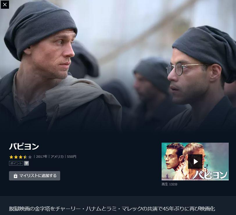 脱獄系映画で支持率が高かったパピヨンがU-NEXTで無料視聴可能