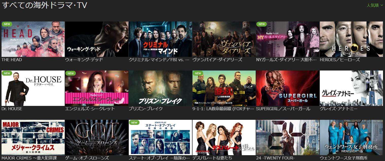 海外・国内ドラマが豊富!リアルタイムチャンネルも視聴可能!