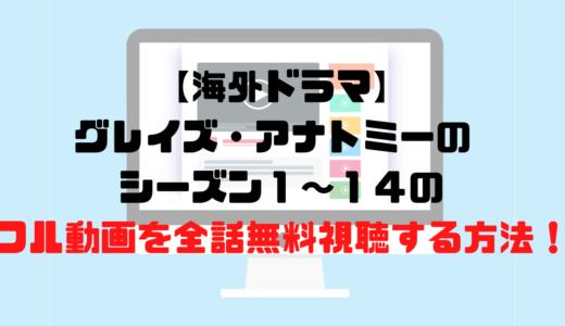 【海外ドラマ】グレイズ・アナトミーのシーズン1~14のフル動画を全話無料視聴する方法!